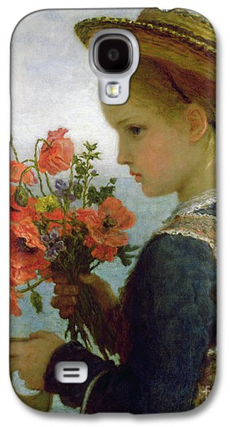 Poppy Girl Galaxy S4 Case by Karl Wilhelm Friedrich Bauerle