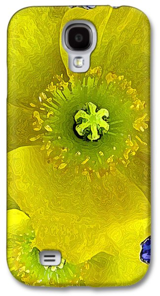 Nature Abstracts Galaxy S4 Cases - Poppy Galaxy S4 Case by Lisa S Baker