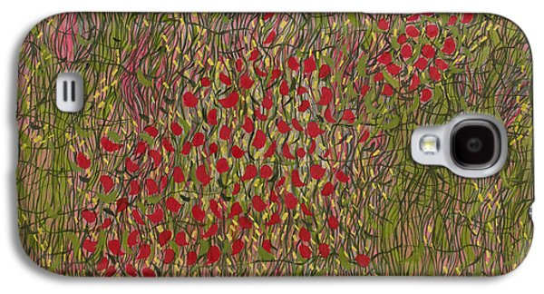 Cellphone Galaxy S4 Cases - Poppy Riff Galaxy S4 Case by Sarah Medway