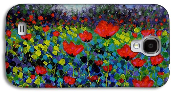 Perspective Paintings Galaxy S4 Cases - Poppy Vista Galaxy S4 Case by John  Nolan