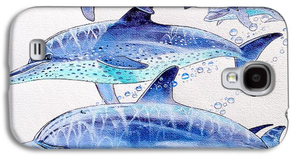 Porpoise Play Galaxy S4 Case by Carey Chen