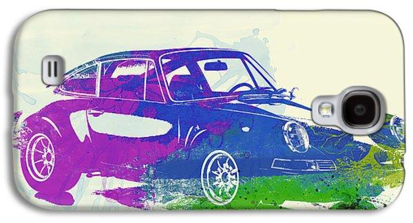 Vintage Car Photographs Galaxy S4 Cases - Porsche 911 Watercolor Galaxy S4 Case by Naxart Studio