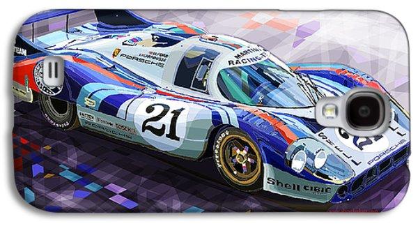 Automotive Galaxy S4 Cases - Porsche 917 LH Larrousse Elford 24 Le Mans 1971 Galaxy S4 Case by Yuriy  Shevchuk