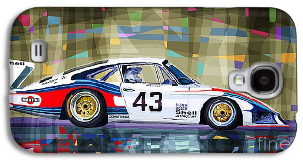 Automotive Galaxy S4 Cases - Porsche 935 Coupe Moby Dick Galaxy S4 Case by Yuriy  Shevchuk