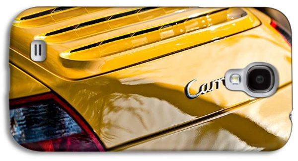 Photography Prints Galaxy S4 Cases - Porsche Carrera Taillight Emblem -0568c Galaxy S4 Case by Jill Reger