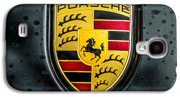 Photography Prints Galaxy S4 Cases - Porsche Emblem -0006c55 Galaxy S4 Case by Jill Reger