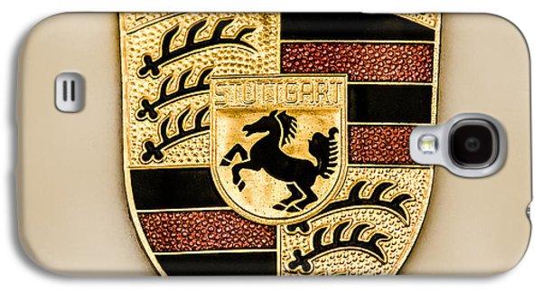 Transportation Photographs Galaxy S4 Cases - Porsche Hood Emblem - 05 Galaxy S4 Case by Jill Reger