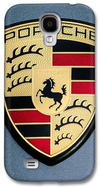 Transportation Photographs Galaxy S4 Cases - Porsche Hood Emblem - 0698c45 Galaxy S4 Case by Jill Reger