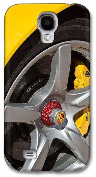 Photography Prints Galaxy S4 Cases - Porsche Wheel Emblem -1002c Galaxy S4 Case by Jill Reger