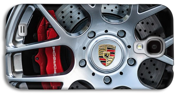 Photography Prints Galaxy S4 Cases - Porsche Wheel Emblem -1323c Galaxy S4 Case by Jill Reger