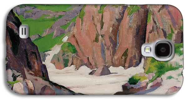 Mountainous Paintings Galaxy S4 Cases - Port Bhan  Iona Galaxy S4 Case by Francis Campbell Boileau Cadell