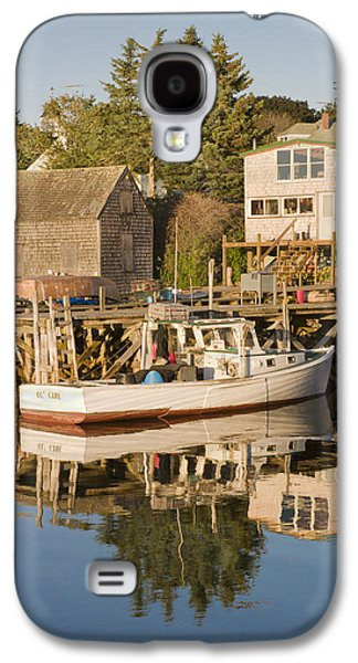 Maine Shore Galaxy S4 Cases - Port Clyde Maine boats and Harbor Galaxy S4 Case by Keith Webber Jr