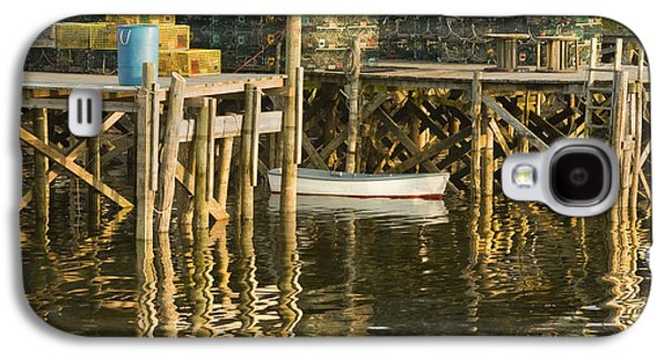 Maine Shore Galaxy S4 Cases - Port Clyde Maine Small Boat and Harbor Galaxy S4 Case by Keith Webber Jr