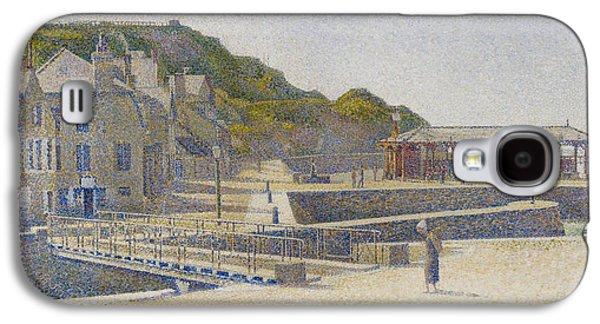 Port En Bessin Galaxy S4 Case by Georges Pierre Seurat