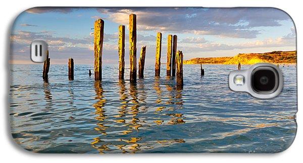 Ruin Galaxy S4 Cases - Port Willunga Jetty Ruins Galaxy S4 Case by Bill  Robinson