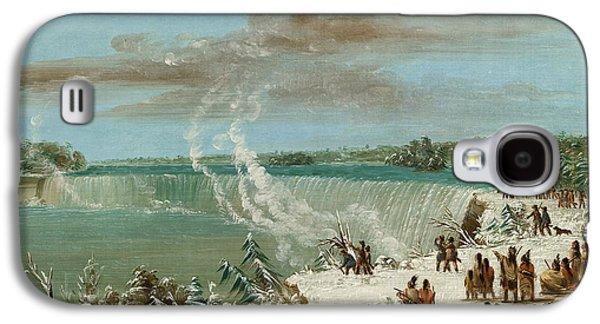 Tribe Paintings Galaxy S4 Cases - Portage Around the Falls of Niagara at Table Rock Galaxy S4 Case by George Catlin
