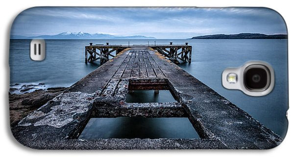 Misty Prints Galaxy S4 Cases - Portencross Pier  and views to Arran Galaxy S4 Case by John Farnan