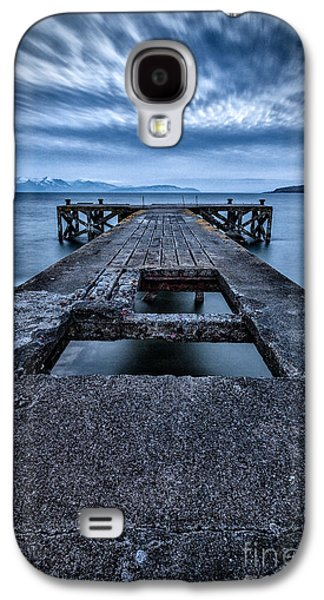 Misty Prints Galaxy S4 Cases - Portencross Pier  Galaxy S4 Case by John Farnan