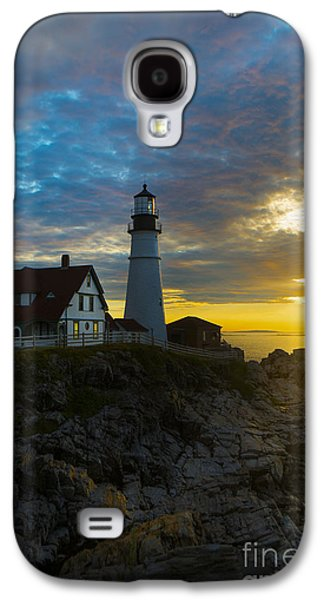 Maine Lighthouses Galaxy S4 Cases - Portland Head Light at Dawn Galaxy S4 Case by Diane Diederich