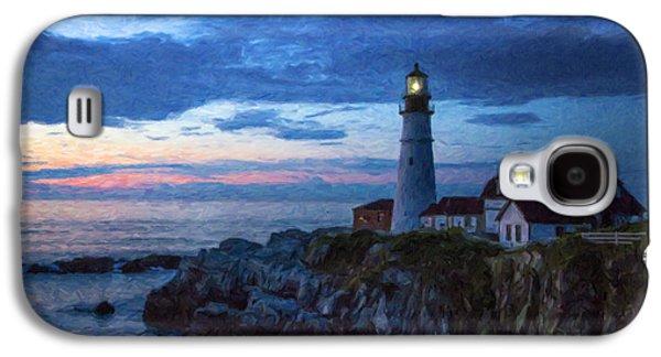 Maine Lighthouses Galaxy S4 Cases - Portland Head Lighthouse Galaxy S4 Case by Diane Diederich