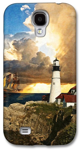 Maine Lighthouses Galaxy S4 Cases - Portland Head Lighthouse Galaxy S4 Case by Lianne Schneider