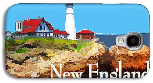 Portland Head Lighthouse New England Galaxy S4 Case by Elaine Plesser