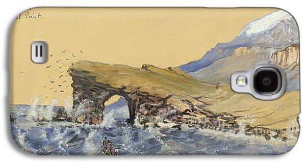 Rocks Drawings Galaxy S4 Cases - Portland Point natural Bridge Circa 1862 Galaxy S4 Case by Aged Pixel