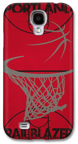 3 Pointer Galaxy S4 Cases - Portland Trail Blazers Court Galaxy S4 Case by Joe Hamilton