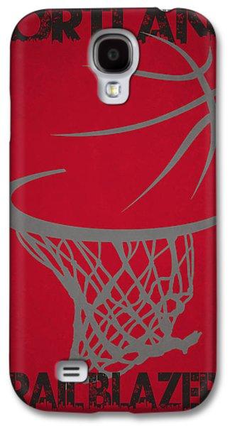 3 Pointer Galaxy S4 Cases - Portland Trail Blazers Hoop Galaxy S4 Case by Joe Hamilton