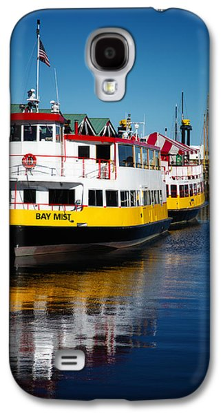 Boats At The Dock Galaxy S4 Cases - Portlands Bay Mist Galaxy S4 Case by Karol  Livote