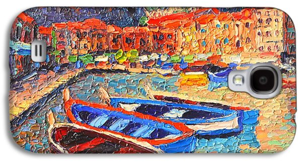 Portofino - Colorful Boats And Reflections In Dawn Light - Italy Liguria Riviera Galaxy S4 Case by Ana Maria Edulescu