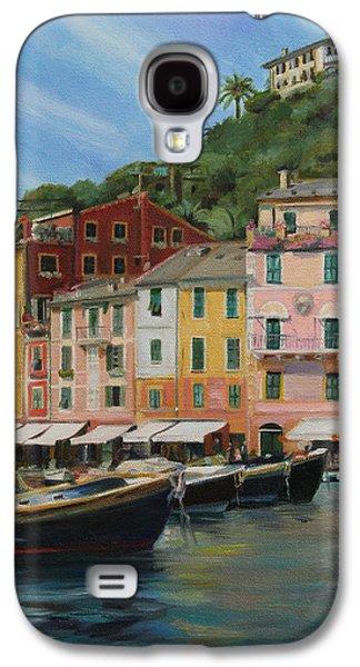 Portofino Cafe Galaxy S4 Cases - Portofino Summer Galaxy S4 Case by Emily Olson