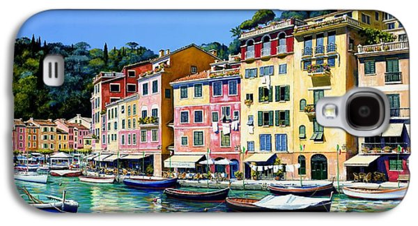Mediterranean Landscape Galaxy S4 Cases - Portofino Sunshine SOLD Galaxy S4 Case by Michael Swanson