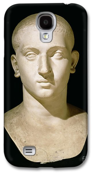 Black Sculptures Galaxy S4 Cases - Portrait bust of Emperor Severus Alexander Galaxy S4 Case by Anonymous