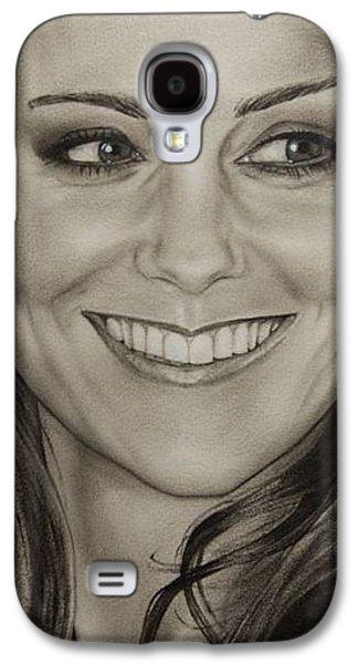 Portrait Kate Middleton Detail Galaxy S4 Case by Natalya Aliyeva