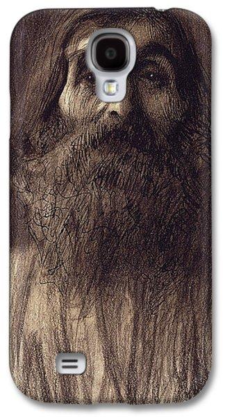 Fine Art Pastels Galaxy S4 Cases - Portrait of a Bearded Man Galaxy S4 Case by Gustav Klimt
