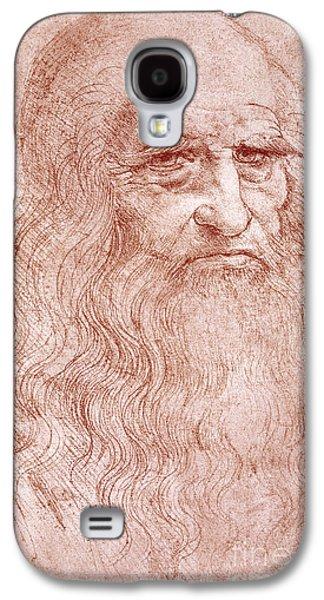 Wells Galaxy S4 Cases - Portrait of a Bearded Man Galaxy S4 Case by Leonardo da Vinci