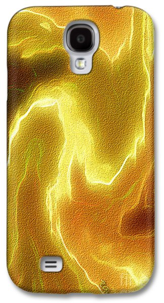Inner Self Galaxy S4 Cases - Portrait of a bright soul - spiritual abstract art by Giada Rossi Galaxy S4 Case by Giada Rossi