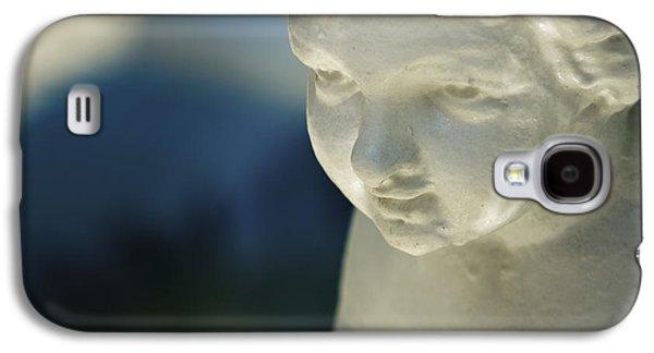Statue Portrait Galaxy S4 Cases - Portrait of a cherub Galaxy S4 Case by Maria Heyens
