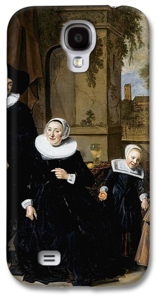 1636 Paintings Galaxy S4 Cases - Portrait of a Dutch Family Galaxy S4 Case by Frans Hals
