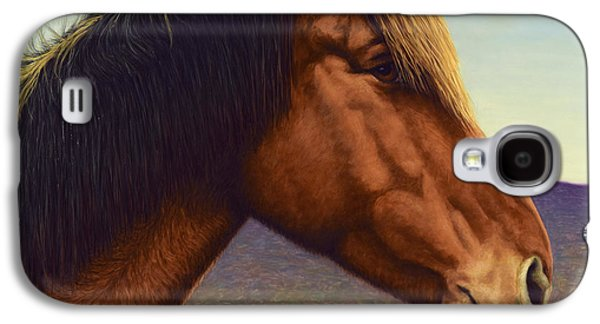 Domestic Galaxy S4 Cases - Portrait of a Horse Galaxy S4 Case by James W Johnson