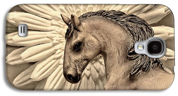 Domestic Digital Galaxy S4 Cases - Portrait Of A Horse Galaxy S4 Case by Jeff  Gettis