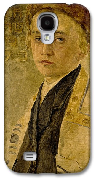 Youthful Paintings Galaxy S4 Cases - Portrait of a Jewish Boy  Galaxy S4 Case by Isidor Kaufmann