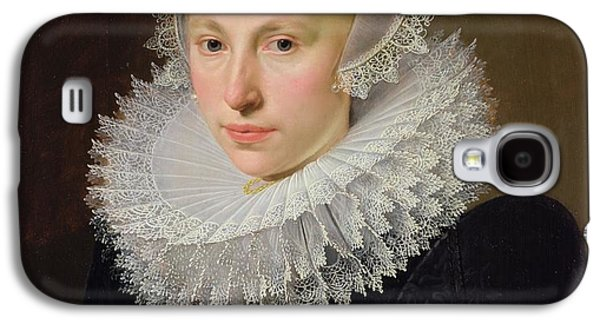 Busts Galaxy S4 Cases - Portrait Of A Lady Oil On Panel Galaxy S4 Case by Cornelis van der Voort