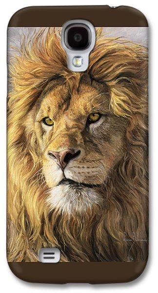 Portrait Of A Lion Galaxy S4 Case by Lucie Bilodeau
