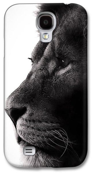 Light And Dark Galaxy S4 Cases - Portrait Of a Lion Galaxy S4 Case by Martin Newman