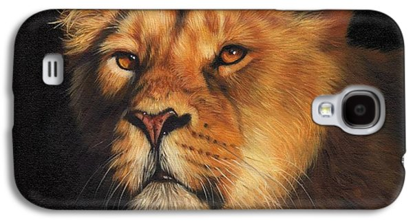 Lioness Galaxy S4 Cases - Portrait of a Lioness Galaxy S4 Case by David Stribbling