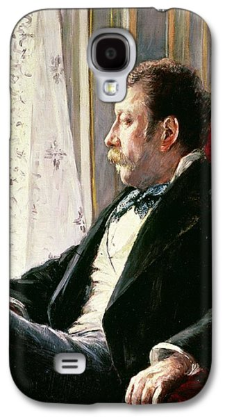 Portrait Of A Man Galaxy S4 Case by Gustave Caillebotte