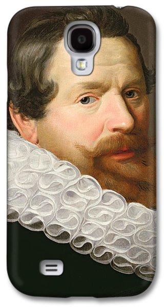 Mustache Galaxy S4 Cases - Portrait of a Man Wearing a Ruff Galaxy S4 Case by Dutch School