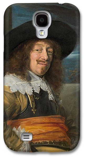 1636 Paintings Galaxy S4 Cases - Portrait of a Member of the Haarlem Civic Guard Galaxy S4 Case by Frans Hals
